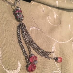 JEWELRY 4 for $15-/ Pink Delicate necklace